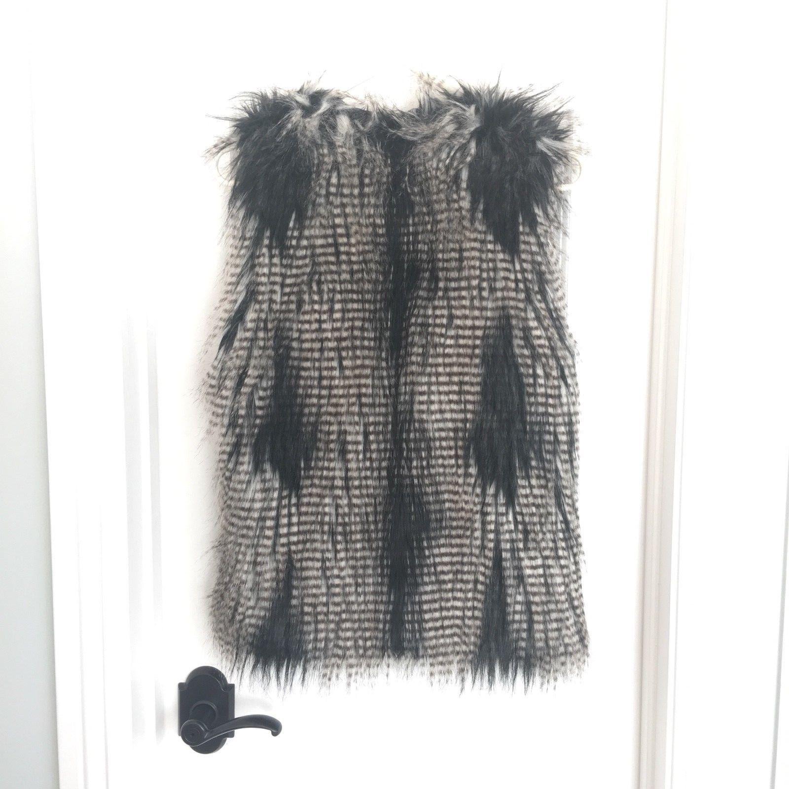 H&M Fox Faux Fur vest Jacket - $39.59