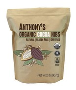 Organic Cacao/Cocoa Nibs, 2 Pounds by Anthony's, Batch Tested and Verifi... - $15.23