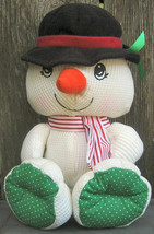 Fisher Price 1997 Cozy Cozie Bear Thermal Snowman Plush Doll 71093 Stuffed - $12.99