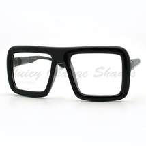 Thick Square Glasses Clear Lens Eyeglasses Frame Super Oversized Fashion - $8.95