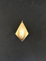Vintage Lebernco Swiss Made Ladies 17 Jewel Pendant Necklace Watch Textu... - $40.00