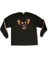 Disturbed--Flames and Face Logo-Longsleeve-X-Large Black T-shirt - $18.72