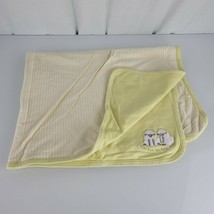 2000 Gymboree Yellow Green Bah Bah Two Little Sheep Baby Blanket Double Ply - $42.07