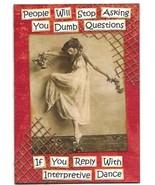 ACEO ATC Art Card Collage Original Ladies Women Dancer Dance Ask Dumb Qu... - $5.00