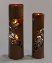 "Rustic Lantern Pillar Candle Holders 22.5"" high & 27.3"" high Set of 2 image 3"