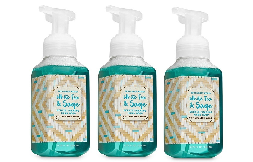 White tea   sage foaming soap3 pack