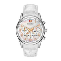Women Quartz Watch Swiss Military-NAVALUS_MULTIFUNCTION_06-6278_04 White Leather - $181.41