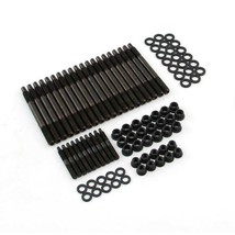 12-Point Black Oxide Cylinder Head Stud Kit For Chevy LS Car Engines 02-06