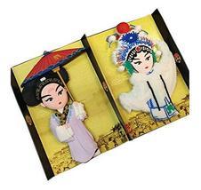 PANDA SUPERSTORE Set of 2 Lovely Peking Opera Fridge Magnet Classic Chinese Styl