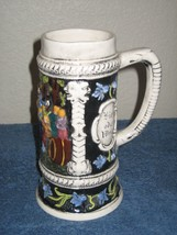 Tall Mug Stein Cup Men Toasting in the Out Door Woods - $11.26