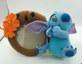 Vintage Hanging Disney Stitch With Picture Frame Orange Flowers - $12.99