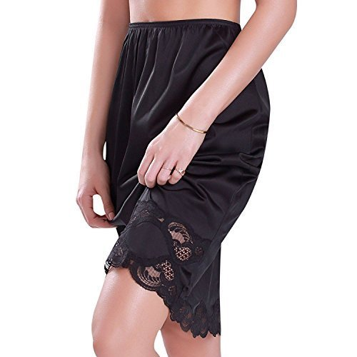"Ilusion Women's Classic Half Slip Skirt with Lace Trim 1017/1817 (Large (24"" Len"