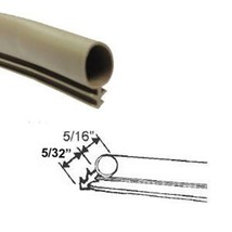 Weatherstrip, Kerf-Mounted, Bulb Type, Tan - 100 ft Roll (2 x 50 ft rolls) - $97.76