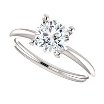 1.00 Carat GH VS2 Ideal Cut Diamond Solitaire Ring in 14K Gold (CVD) - $899.50