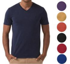Lacoste Men's Premium Cotton V-Neck Shirt T-Shirt Slim Fit Vintage Wash