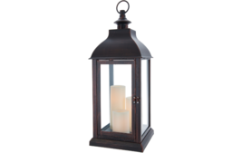 Candle Impressions Large Indoor Outdoor Lantern with 3 Candles Holiday C... - $53.99