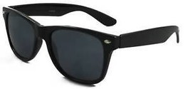 BLACK FRAME SUNGLASSES  DARK BLACK LENSES 80's - £5.73 GBP