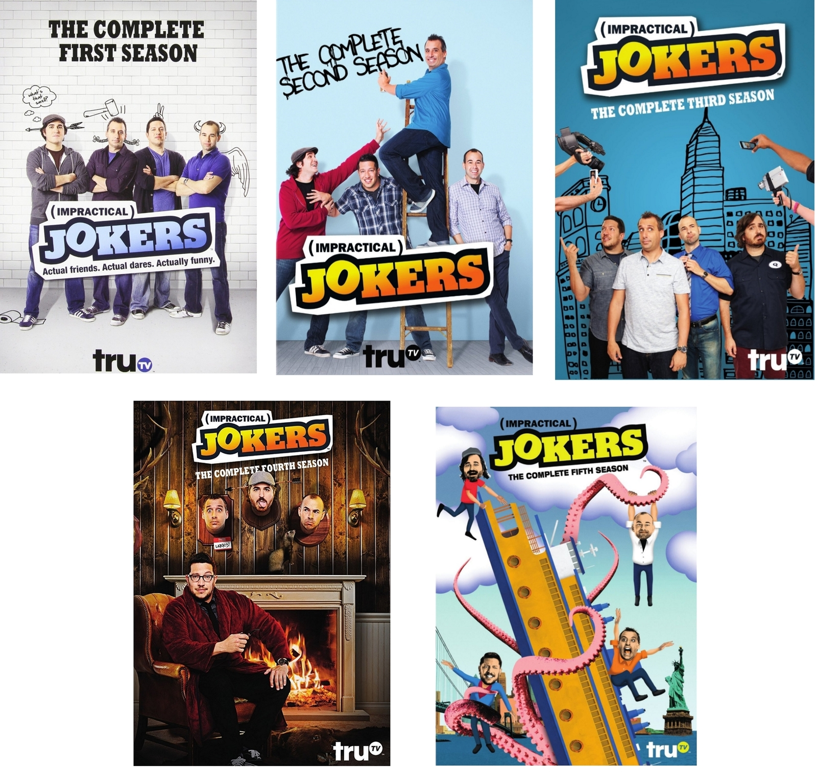 Impractical jokers season 1 5 one five dvd bundle2