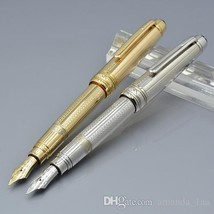 11.5 cm mini gold / silver mb fountain pen with cute laser carving schoo... - $46.99