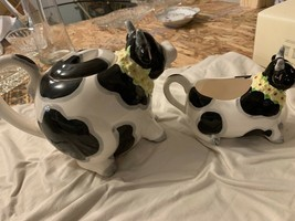 OMNIBUS Cow Tea Pot and Creamer Made in Japan  - $30.00