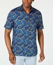 Tasso Elba Men's Congo Grass Printed Silk Shirt, size XXL, MSRP $65 - $23.36