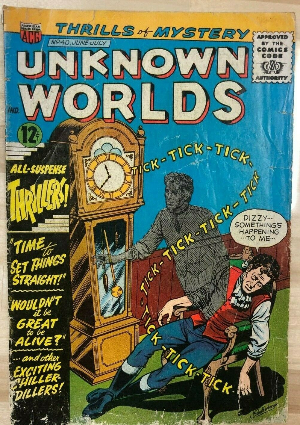 Primary image for UNKNOWN WORLDS #40 (1965) ACG Comics G/VG