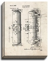 Railway Tank Car Patent Print Old Look on Canvas - $39.95+
