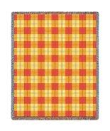 Mango Plaid Throw - 70 x 53 Blanket/Throw - $64.95