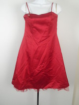 David's Bridal Dress Sleeveless Butterflies Red Size 14 Polyester Dry Clean - $41.90