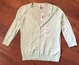 NWT Old Navy womens size XS X-Small Mint Green button down cardigan sweater - $6.90