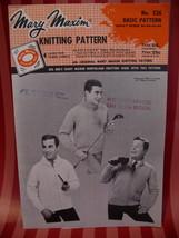 Vintage Basic Sweater Knitting Pattern Mary Maxim Graph - $6.99