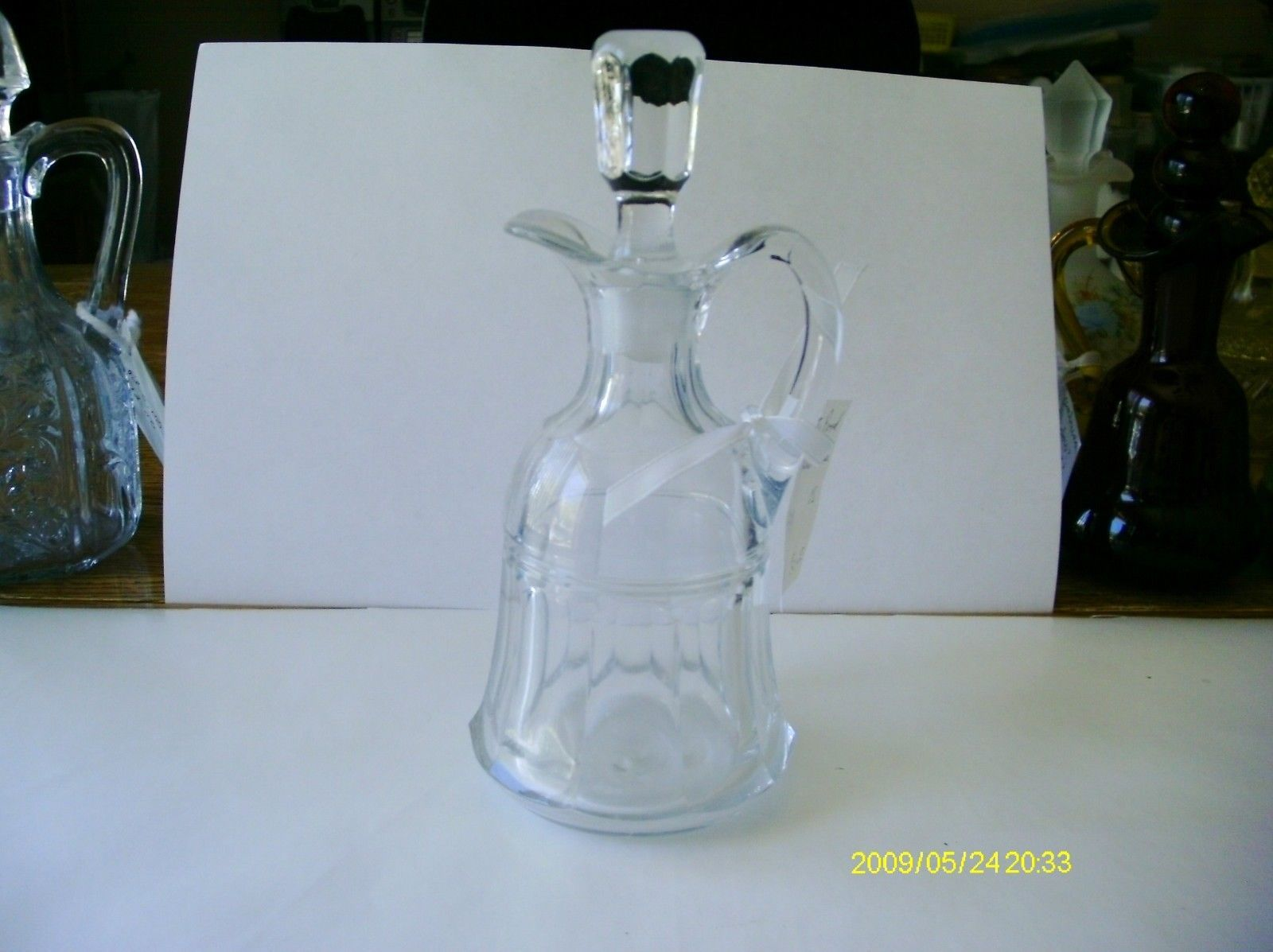 Primary image for Punty Band Clear Cruet  OS