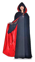 Underwraps Adult Black Velvet Red Satin Cape Goth Steampunk Theatre - $45.99