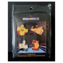 Funko Enamel Pins WWE Wrestlemania 3 Walmart Exclusive Pin Set 1/5000 New Sealed - $24.95