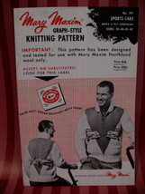 Vintage Sports Car Sweater Knitting Pattern Mary Maxim Graph - $9.99