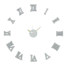 New! Diy Self Adhesive Wall Clock Do It Yourself 3D Interior Time CLOCK-GLITTER - $18.76