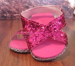 handmade Doll Clothes Shoes sandals hot pink  f... - $4.46