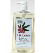 1 Bottle Natural Therapy 33.8 Oz Hemp & Cherry Blossom Soothing Body Wash - $17.99