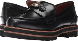 Coach Women's Slip On Platform Leather Fashion Shoes Lenox Loafer Black size 7