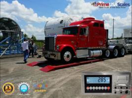 "Optima OP-923 Axle Truck Scale 7'x30"" Platform 60,000 lb w/ Indicator + ... - $3,999.00"