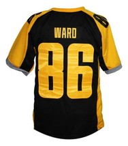 Hines Ward #86 Gotham Rogues The Dark Knight Men Football Jersey Black Any Size image 2