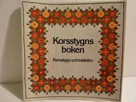 KORSSTYGNS BOKEN, 1976 Swedish Cross Stitch Pattern Book - $8.80