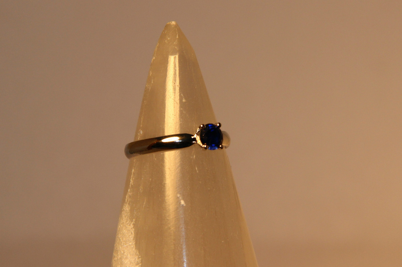 .50ctw Created Sapphire Designed in .925 Sterling Silver Ring