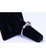 Attractive Ring with .52ctw Genuine Diamond Garnet set in .925 Sterling ... - $70.00