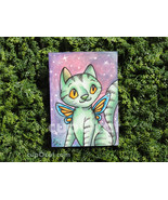 "Galaxy Cat Fairy - ACEO sketch card drawing (2.5"" x 3.5"") - $13.00"