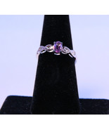 Stunning Ring with Genuine Amethyst in .925 Sterling Silver - $35.00