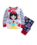 Disney Store Baby Girls Snow White Long Sleeve PJ PALS Pajama Set, White... - $16.96