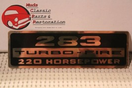 Chevy Impala Nova Chevelle 283 Turbo-Fire 220 HP Valve Cover Decal - $9.99