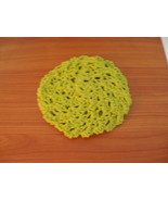 Handmade cotton baby guest face wash cloth crocheted - set of 2 - $3.00