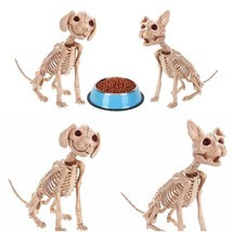 Dog Cat Skeleton Decoration Halloween Puppy Kitten Bones Skull Party Pro... - $516,13 MXN